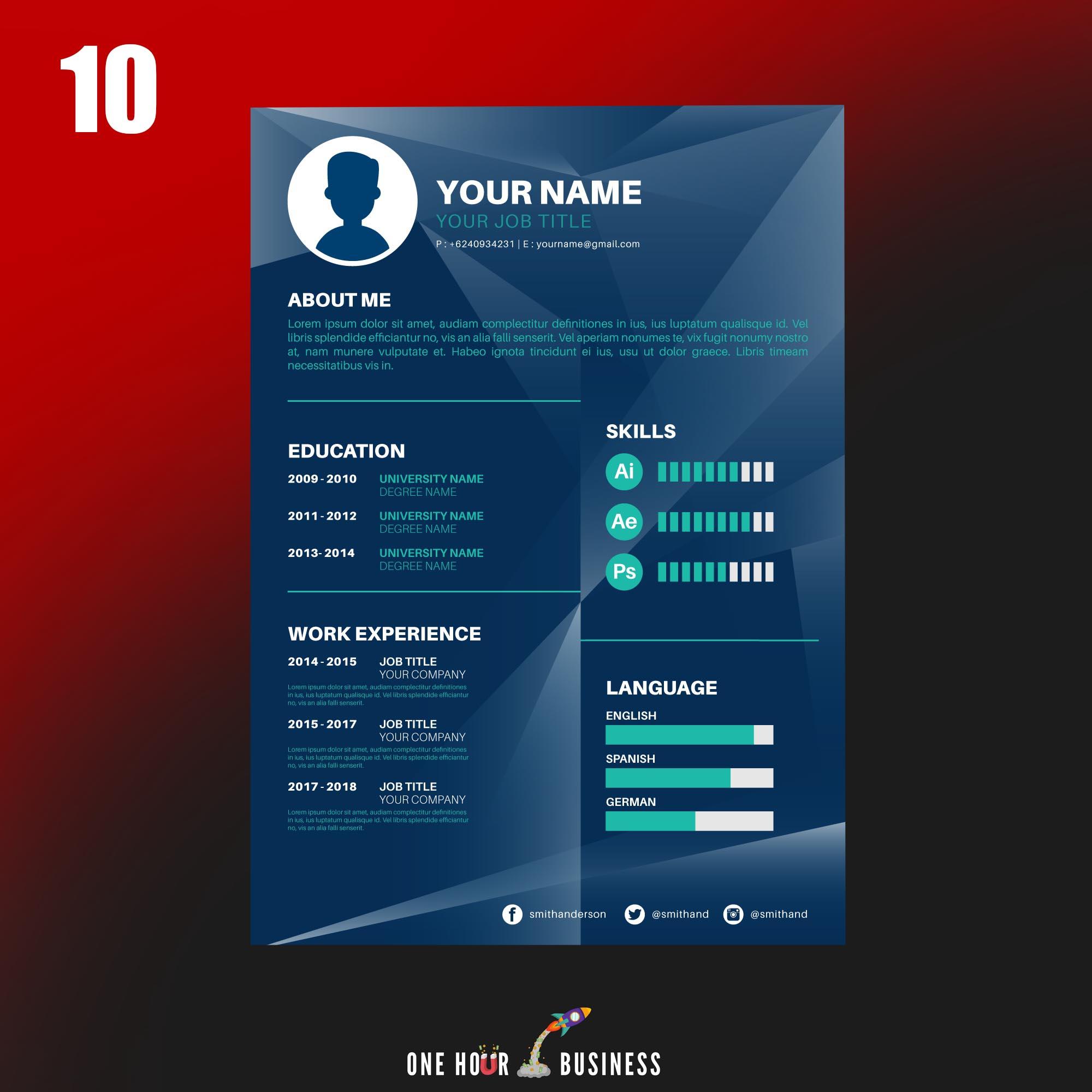 CV 10 OHB - CV intelligent